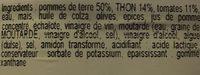 Salade Du Pêcheur, La Barquette De - Ingrédients