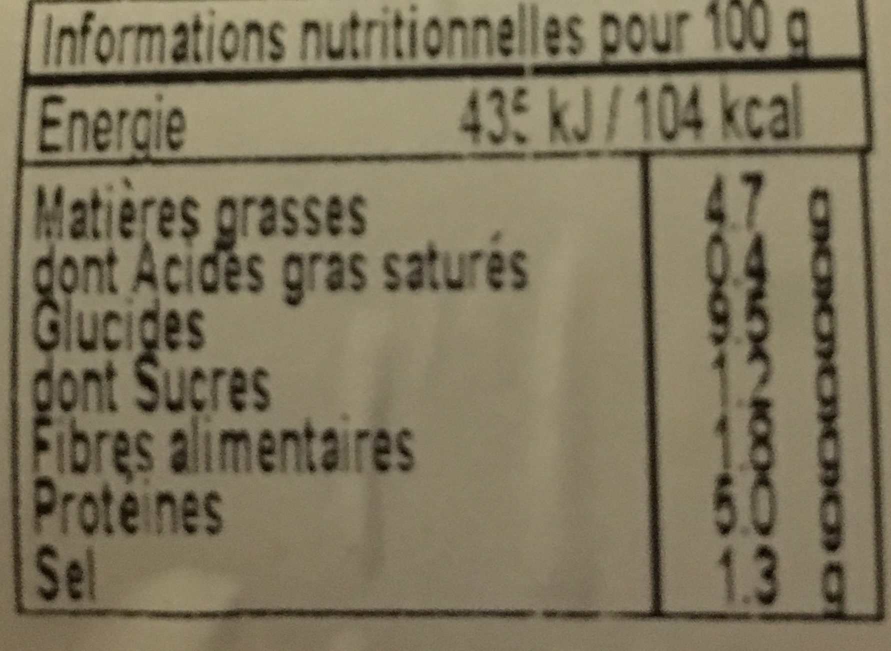Salade Du Pêcheur, La Barquette De - Informations nutritionnelles