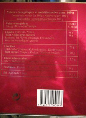Pâtes de fruits - Ingredients - fr