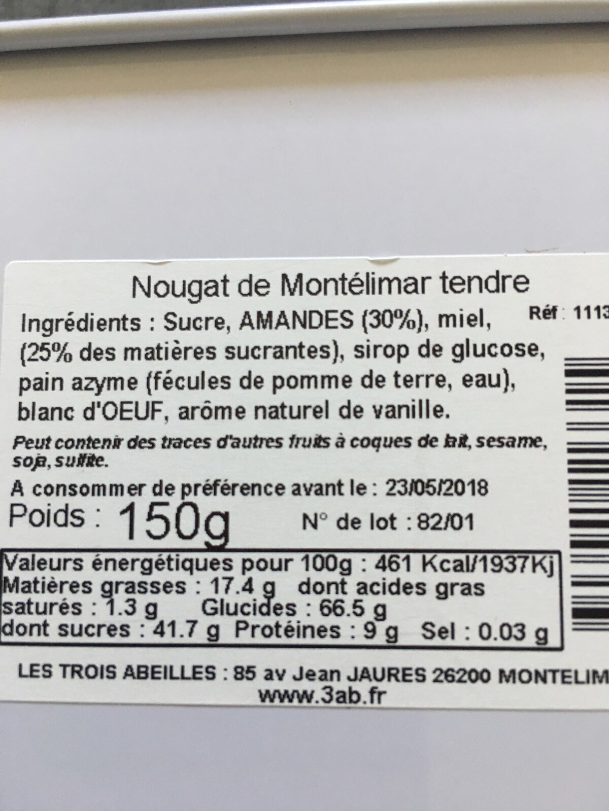 Nougat de Montélimar - Ingrédients