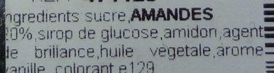 Pralines aux Amandes - Ingrédients