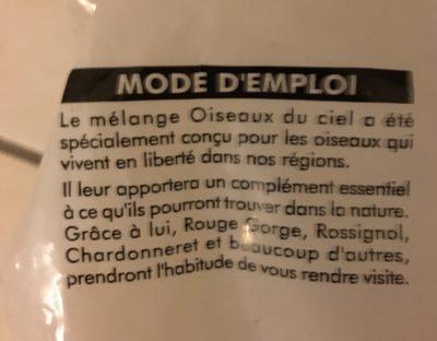 Mélange Oiseaux Du Ciel - Ingrédients - fr