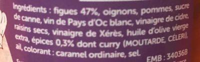 Chutney de figues aux épices - Ingrédients