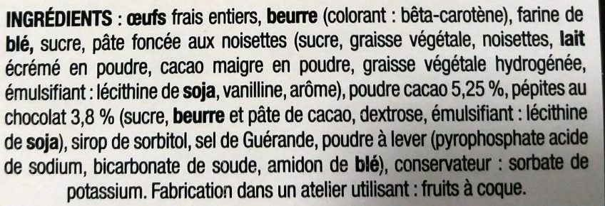 Gâteau de Bretagne au Chocolat - Ingrédients