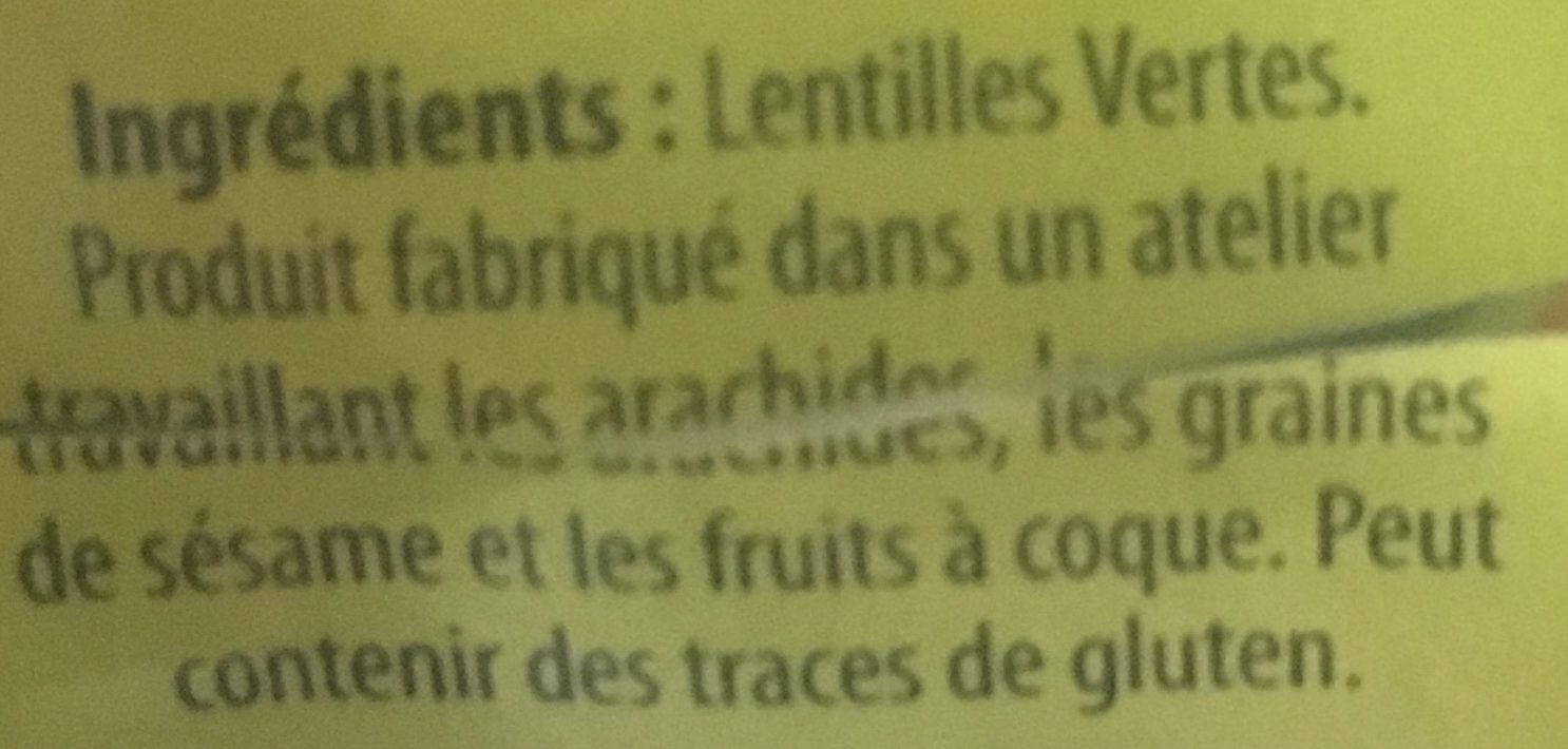 Lentille Verte - Ingrédients