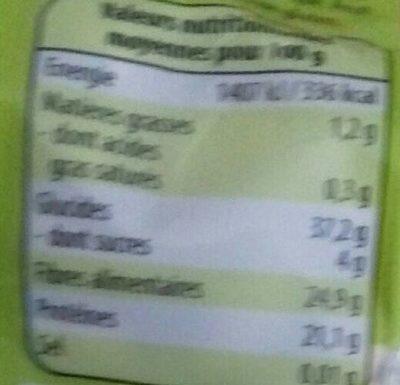 Mogettes de Vendée - Informations nutritionnelles