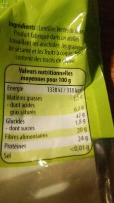 Lentilles vertes du Berry - Ingrédients