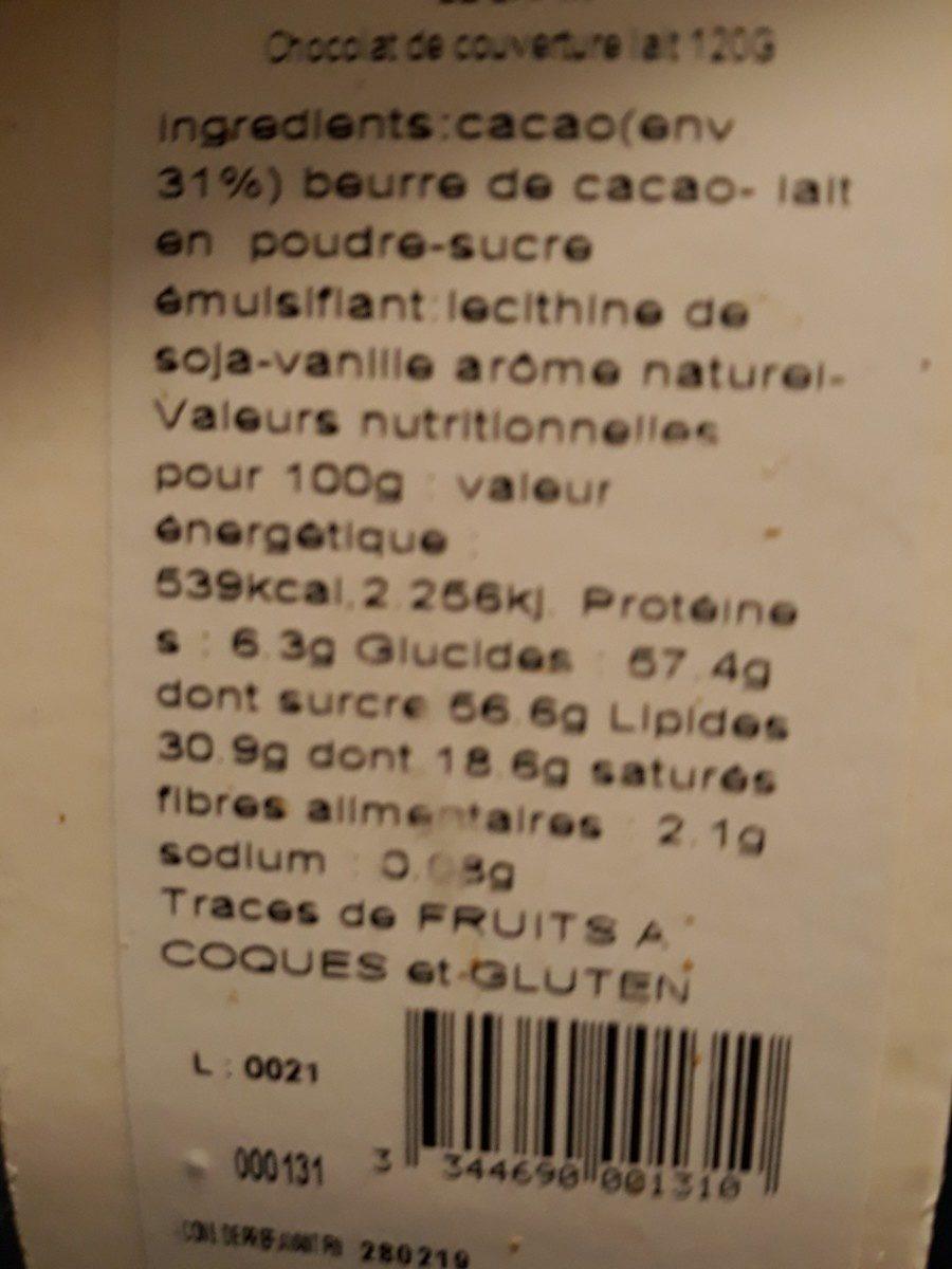 Le lapin chocolat au lait - Ingredienti - fr