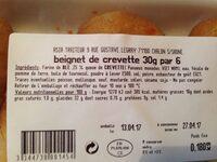 Beignets de crevette - Ingrediënten - fr