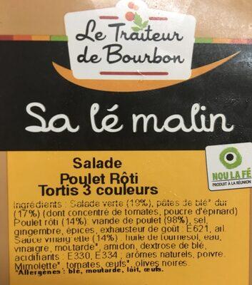 Salade poulet roti tortis 3 couleurs - Ingrédients