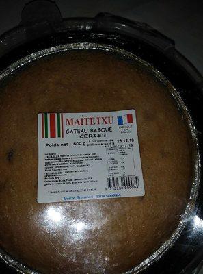Gâteau basque cerise - Product