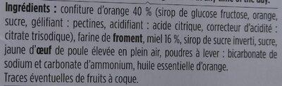 Mini-nonnettes à la confiture d'Orange - Ingredienti - fr