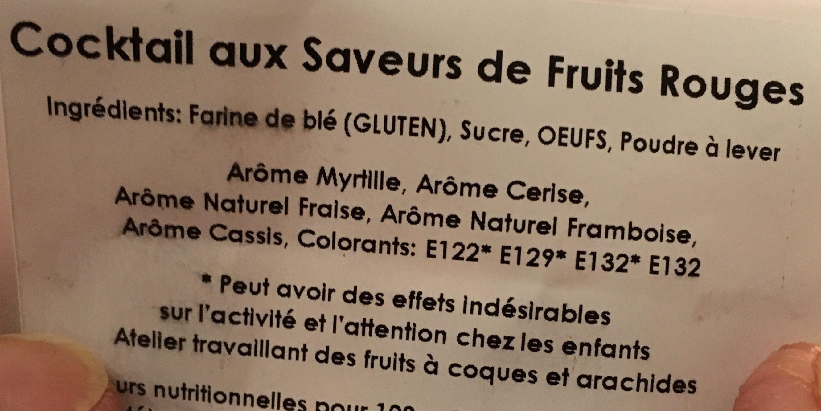 Cocktail Fruits Rouges - Ingrediënten