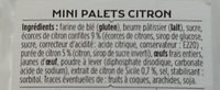 Mini Palets Citron - Ingrédients