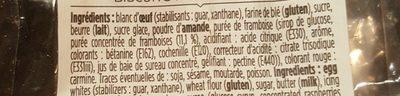 Palets à La Framboise - Ingrediënten - fr