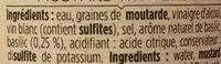 La Moutarde au Basilic - Ingrédients - fr
