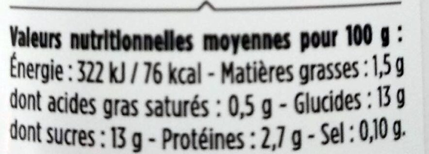 Le Yaourt Framboise Litchi - À boire - Valori nutrizionali - fr