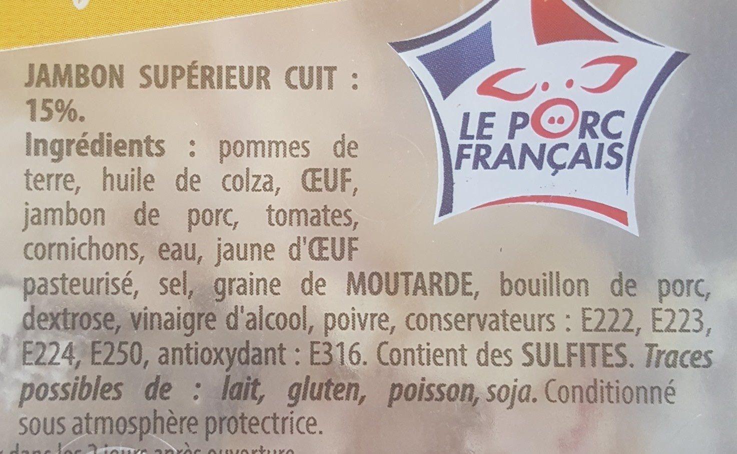 Piémontaise tradition au jambon supérieur - Ingrédients - fr