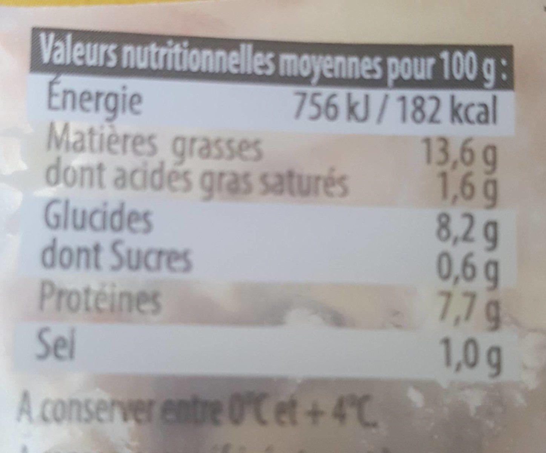 Piémontaise tradition au jambon supérieur - Informations nutritionnelles - fr