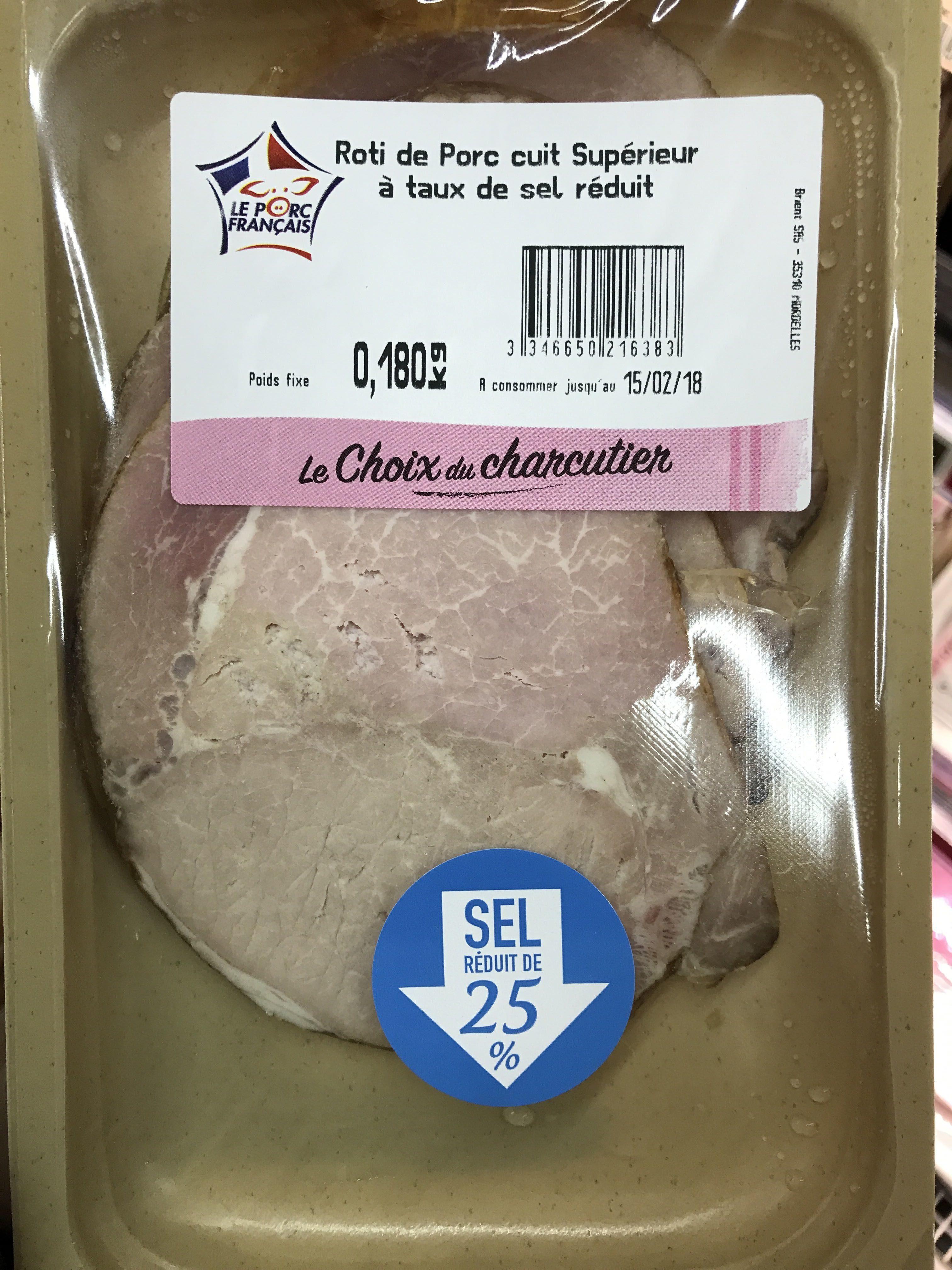 Brient, Roti de porc superieur, la barquette de 4 180 g - Produit