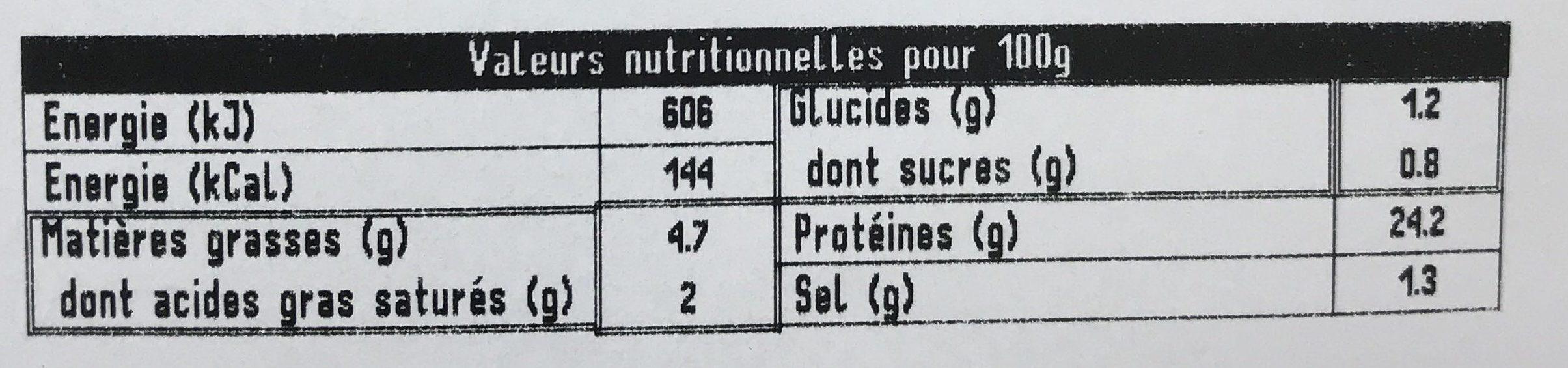 Brient, Roti de porc superieur, la barquette de 4 180 g - Informations nutritionnelles - fr