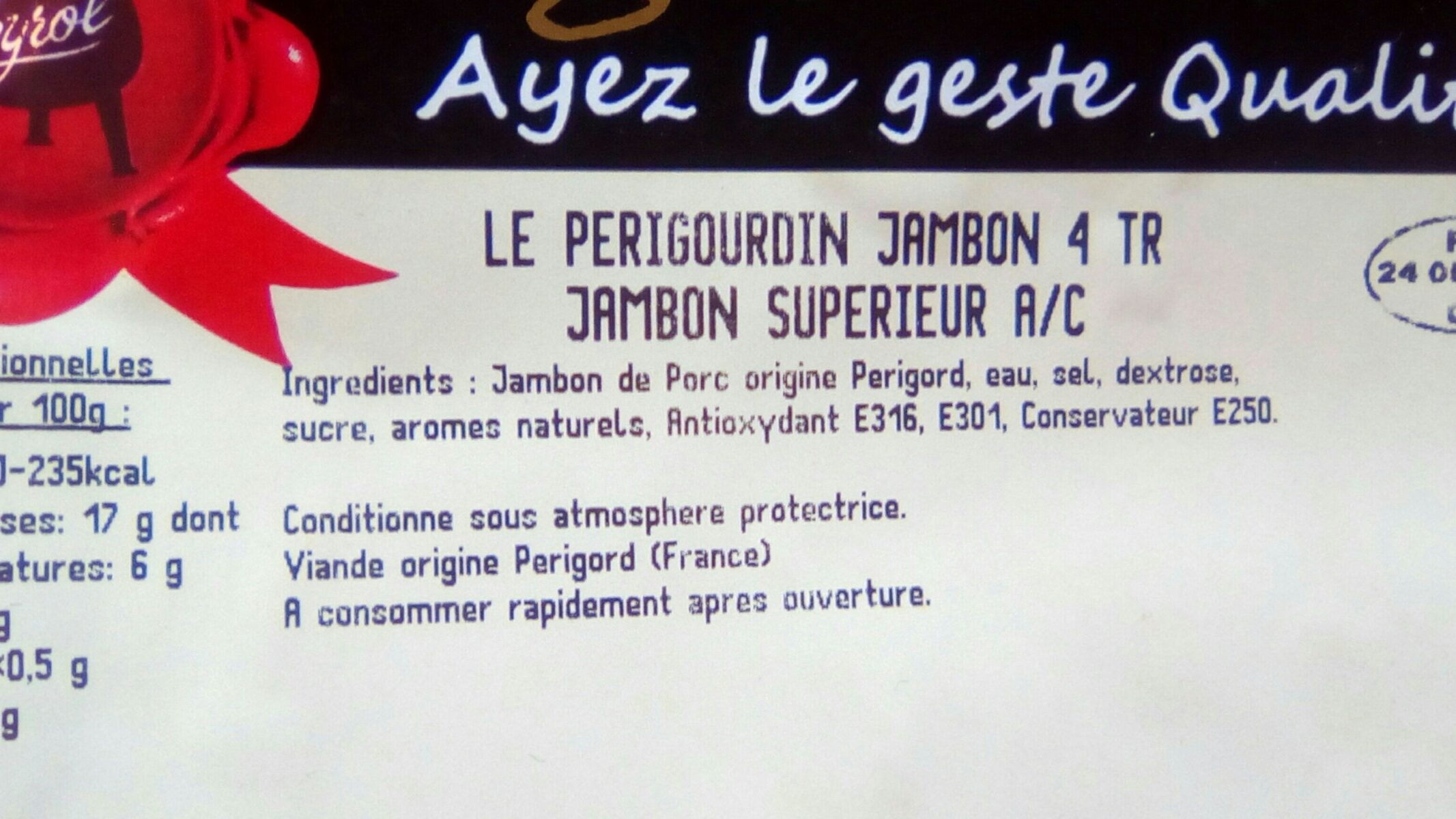 Les episales de l'île de Ré - Ingredients