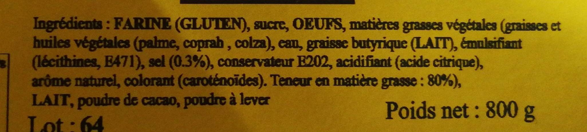 Marbré - Ingrediënten