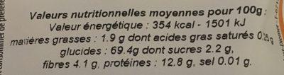 Farine d'épeautre blanche Type 65 - Nutrition facts - fr
