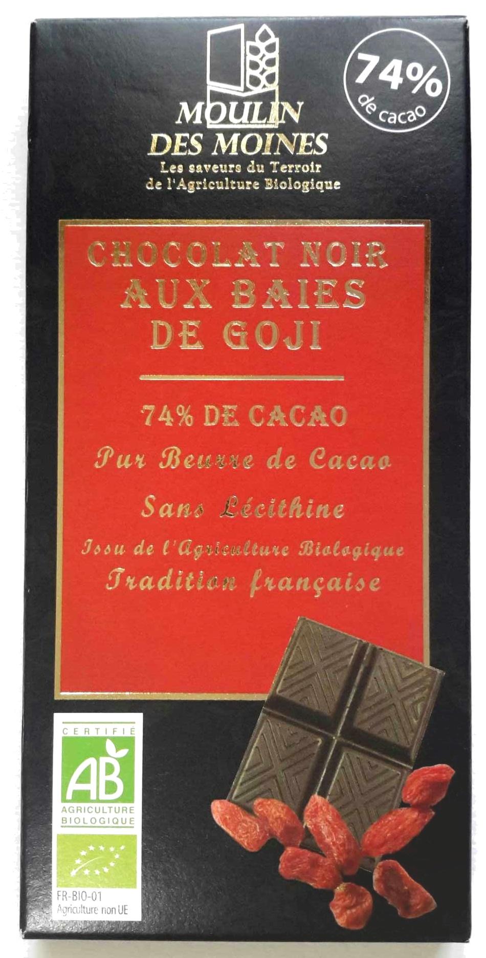 Chocolat noir aux baies de Goji - Produit - fr