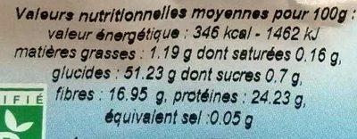 Trio de lentilles - Voedingswaarden - fr