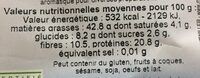 Tournesol decortique - Nutrition facts - fr