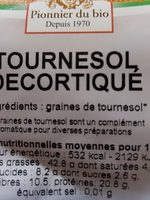 Tournesol décortiqué - Ingredients