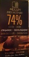Chocolat noir 74% biologique - Product - fr