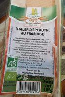 THALER D'EPEAUTRE AU FROMAGE - Prodotto - fr