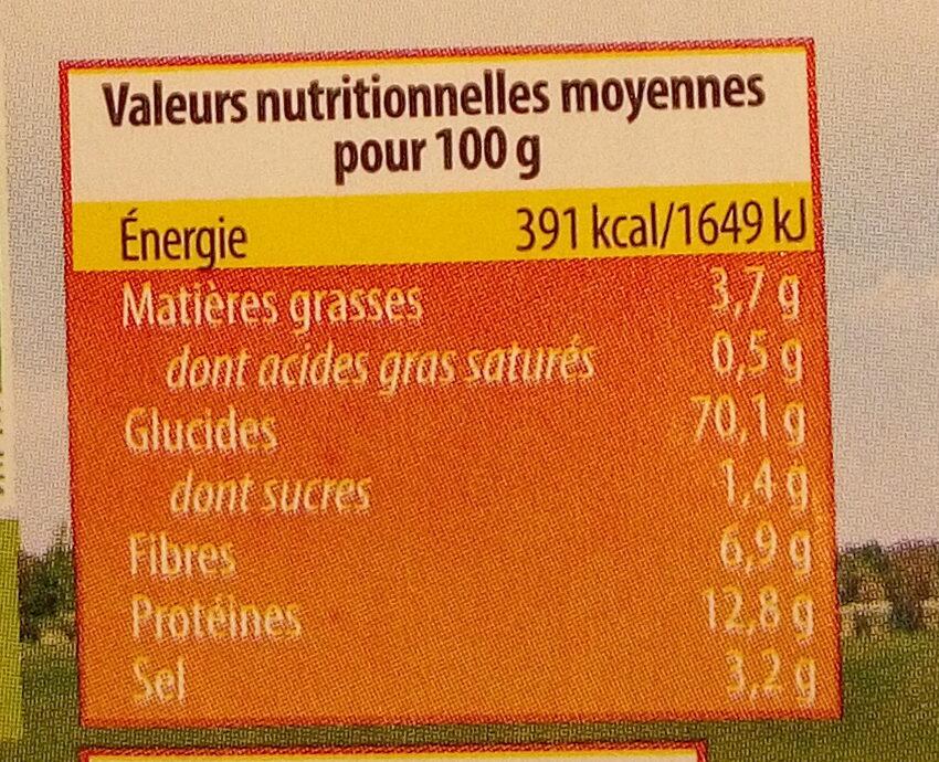 Bretzels d'épeautre à l'huile d'olive - Valori nutrizionali - fr