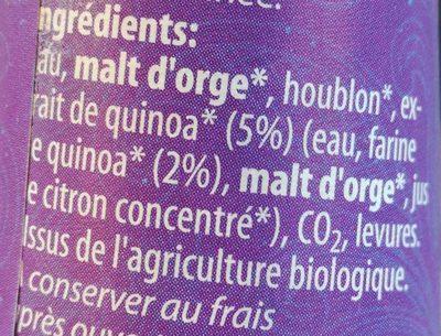 Epicerie / Boissons Et Vins / Bières Bio - Ingrédients
