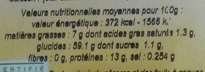 Gruau d'avoine - Informations nutritionnelles - fr