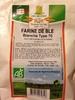 Farine de blé blanche type 70 - Produit