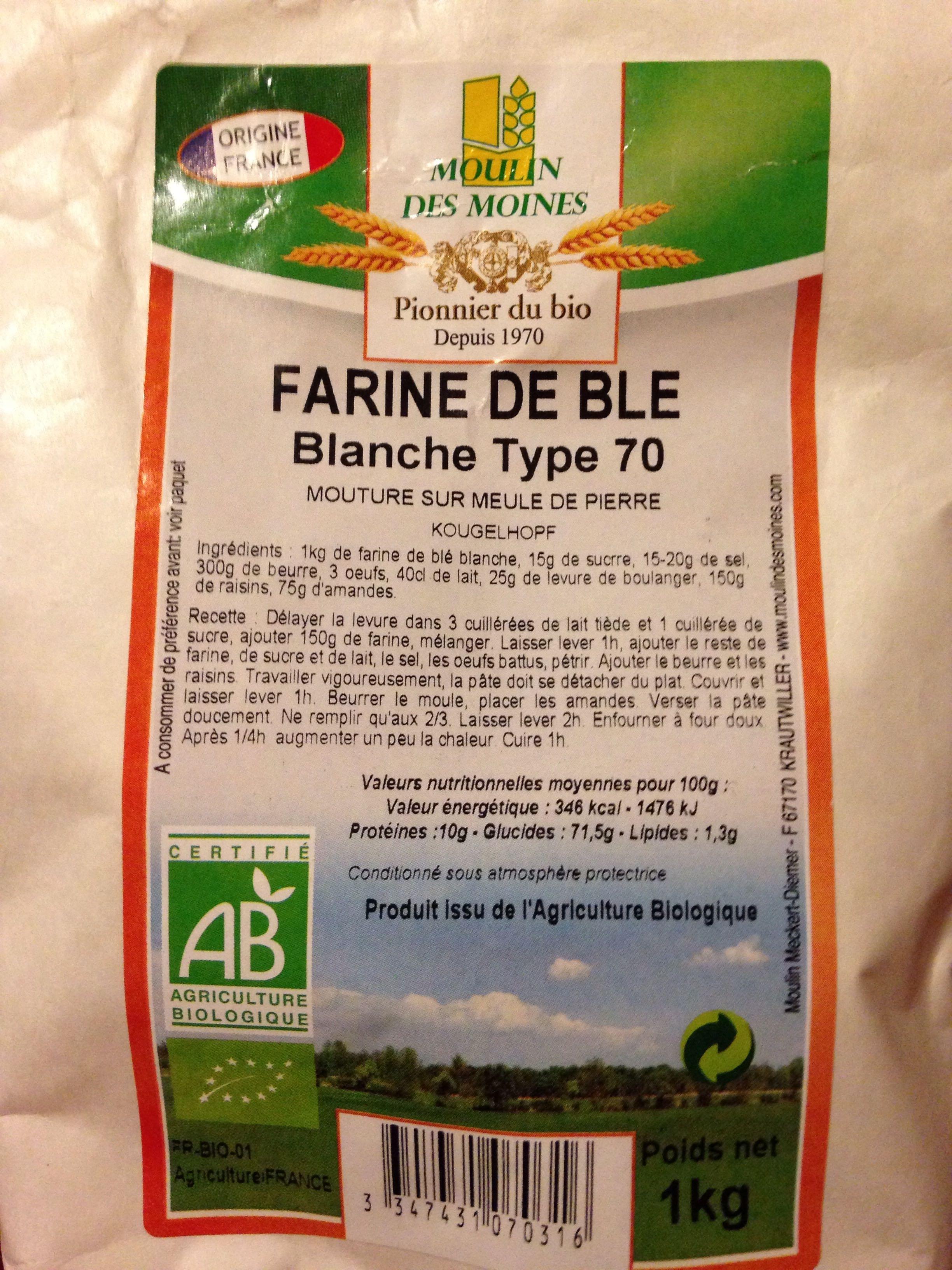 Farine de Blé Blanche Type 70 - Product