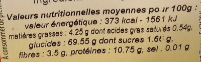 Farine de millet jaune - Nährwertangaben - fr