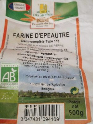 Farine Epeautre T110 - Product