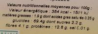 Farine d'épeautre blanche Type 70 - Nutrition facts
