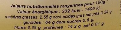 Farine d'Épeautre Complète Type 150 - Nutrition facts