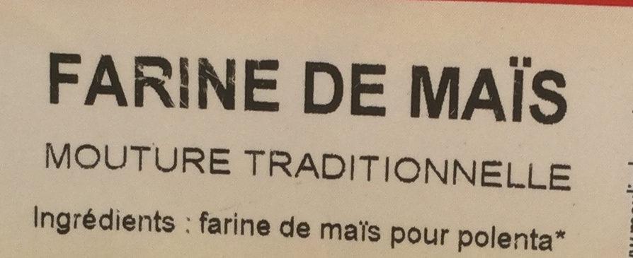 Farine de maïs - Ingrediënten