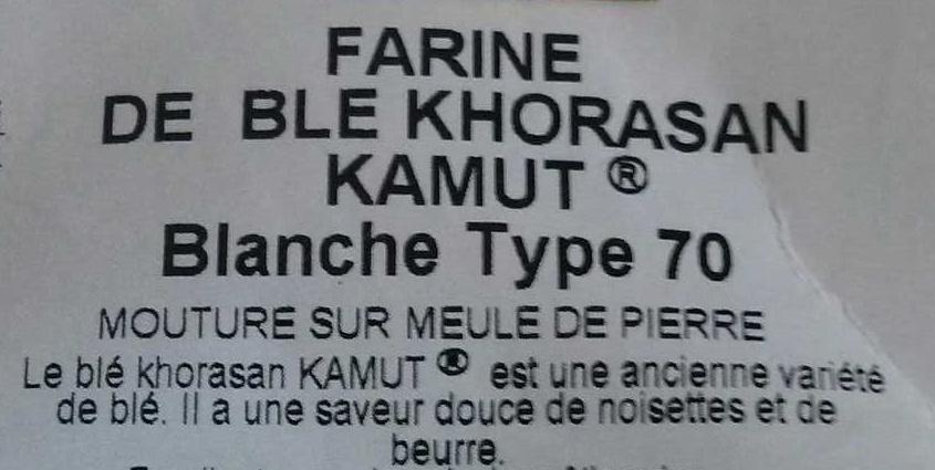 Farine de blé Khorasan Kamut - Ingredients - fr