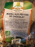 Muesli aux pépites de chocolat - Produit - fr