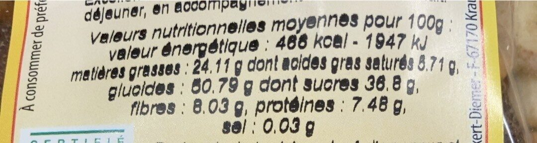Mélange de Fruits Secs Bio 200 g Lot de 5 - Nutrition facts - fr