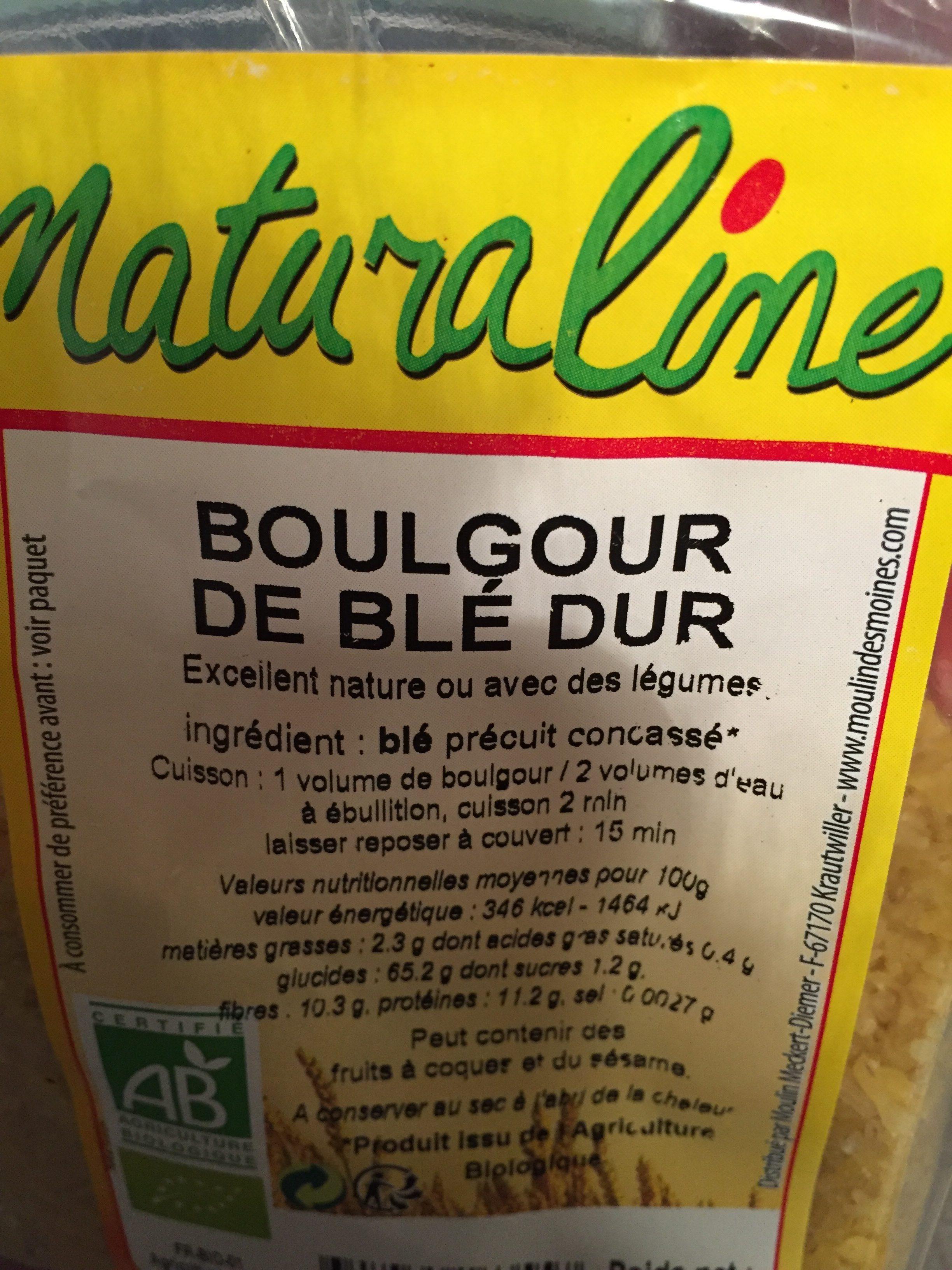 Boulgour precuit NATURALINE - Ingrediënten