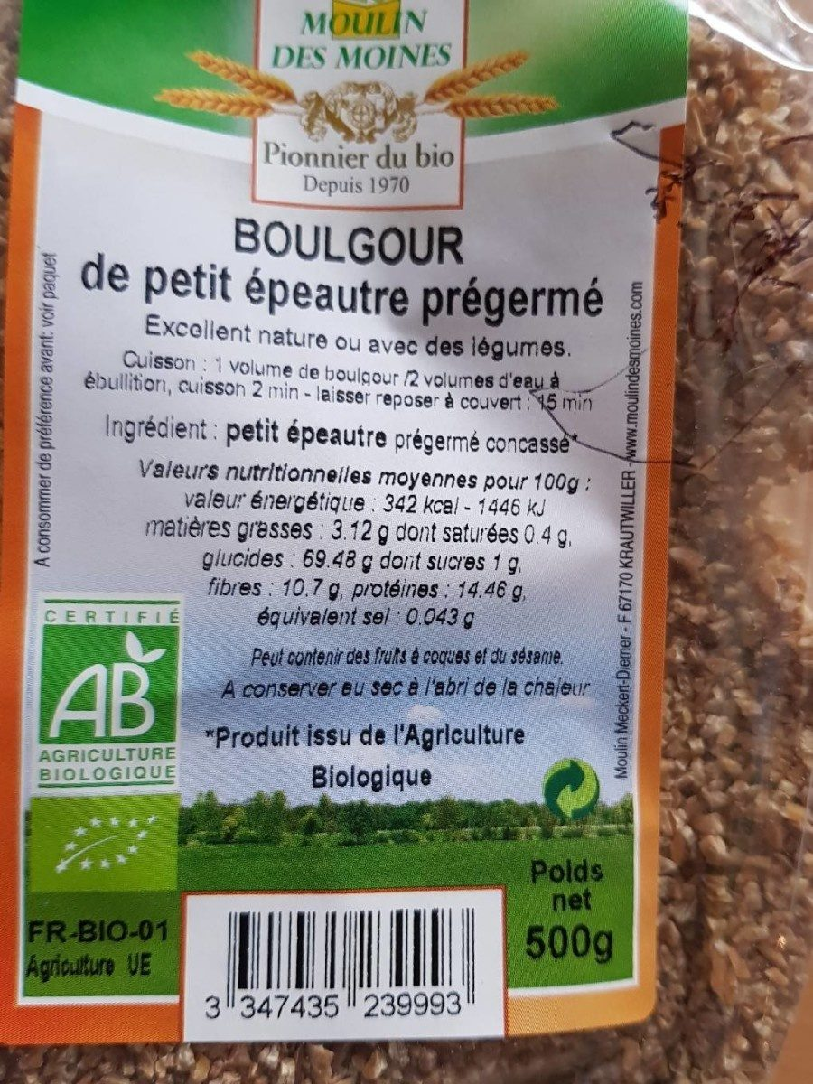 Boulgour de petit épeautre - Product - fr