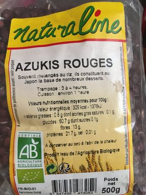 Azukis Rouges - Ingredients - fr